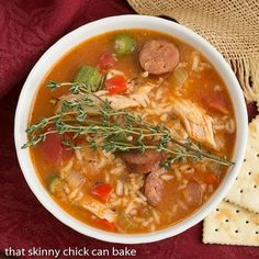 Chicken Jambalaya Soup is a taste of New Orleans made easy and the perfect dish for your Mardi Gras dinner.