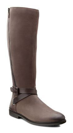ECCO is a global leader in innovative comfort footwear for men, ladies and kids. Long Boots, Bearpaw Boots, Cold Day, Casual Looks, Riding Boots, Footwear, My Style, Lady, Brown