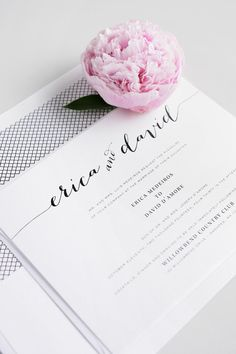 Rustic, Romantic Navy Blue  Wedding Invitations with a Crosshatch Envelope Liner. So pretty and delicate!