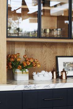 Home Interior Inspiration .Home Interior Inspiration Interior Design Kitchen, Kitchen Decor, Kitchen Ideas, Warm Kitchen, Orange Kitchen, Decorating Kitchen, Kitchen White, Interior Modern, Updated Kitchen