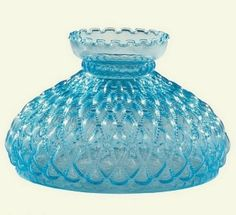 White glass 10 ribbed kerosene oil lamp shade genuine aladdin blue glass 10 diamond quilted student lamp shade lighting replacement perfect for student desk mozeypictures Image collections