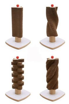 The Scratch Tower is a vertical scratching post with lots of design possibilities. Pet Furniture, Coaster Furniture, Ferrets Care, Cat Towers, Cat Scratching Post, Cat Scratcher, Cat Room, Cat Condo, Cat Accessories