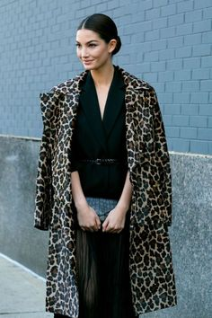 Lily in leopard. @thecoveteur