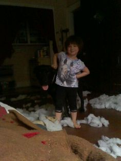 Get a dog to entertain the child... dog and child do everything together..... even destroy the house..