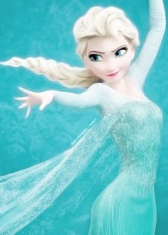 Elsa the Snow Queen - she has the most amazing dress after her transformation in Let it go!