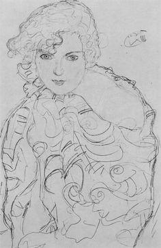 Drawings 2 / Brustbild einer Frau 1915. Gustav Klimt