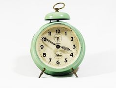 *Vintage Desk CLOCK , Retro Clockwork , Office&Home Decor,Retro Style,Kaiser brand,1960s    *Very clean, Not any Damage looks fantastic and it has