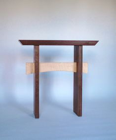 Thin Hallway Furniture maple and walnut thin console table: for hallways, narrow entry