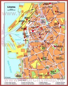 Туристическая карта Ливорно с достопримечательностями