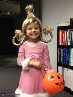 Cindy Lou Who from How the Grinch Stole Christmas | 30 Best DIY Kids Halloween Costumes Your Mom Never Made For You