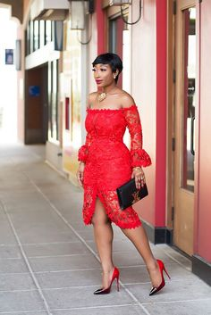 My Style – Chicamastyle by Chic Ama Red Dress Lace Dress Styles, African Lace Dresses, Latest African Fashion Dresses, Classy Dress, Classy Outfits, Chic Outfits, Fashionable Outfits, Pretty Outfits, African Attire