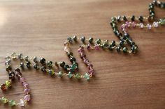 Watermelon Tourmaline and Gold Filled Necklace by yaniamor on Etsy, $110.00