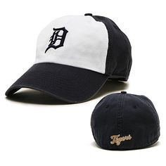"""Detroit Tigers Garment-Washed Freshman Franchise Fitted Cap - Small (6 7/8 to 7 1/8) by '47 Brand. $22.99. Detroit Tiges Garment-washed soft cotton """"freshman"""" franchise cap. White front panel with navy English D on the front and script """"Tigers"""" on the back. By Twins Enterprise"""