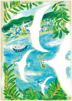 work - fukunaga manami illustration hp Forest Drawing, Kindergarten Art Projects, Plant Illustration, Sketchbook Inspiration, Blue Art, Drawing Techniques, Painting & Drawing, Art For Kids, Color Harmony