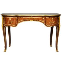 French Louis XV Style Kidney-Shaped Writing Table