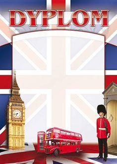 A374 Dyplom język angielski - e-dyplomy Dyplomy na każdą okazję! English Vinglish, English Grammar, Teaching English, English Language, Back To School Art Activity, Art School, British Party, Book And Frame, England Ireland