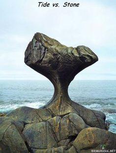 Aaltojen muokkaama kivi