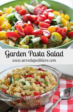 Served Up With Love: Garden Pasta Salad