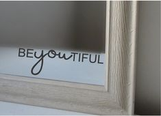 BeYOUtiful Vinyl Decal by lishieshop on Etsy Vinyl Projects, Vinyl Decals, Wall Decals, Bathroom Vinyl, Mirror Decal, Home Improvement, Mirrored Projects, Girls Bathroom, Mirror Vinyl