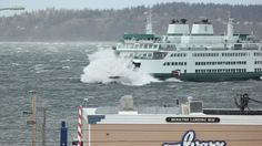 03/14/2016 - Northwest windstorm makes for harrowing rides on Washington ferries