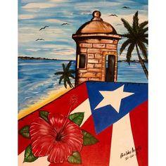 Puerto Rican Memes, Puerto Rican Flag, Flower Painting Canvas, Canvas Art, Puerto Rico Pictures, Latino Art, Puerto Rican Culture, Cuban Art, Graffiti