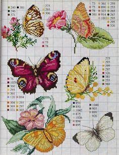Babóca: Pillangók - keresztszemes