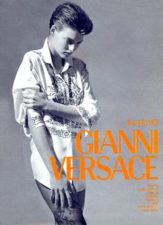 Linda Evangelista in Gianni Versace ad