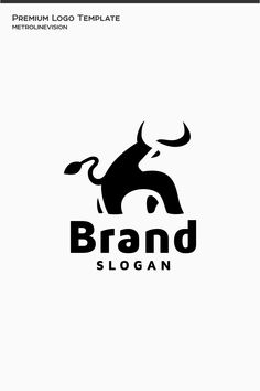 Bull Logo Template, #Affiliate #Bull #Logo #Template