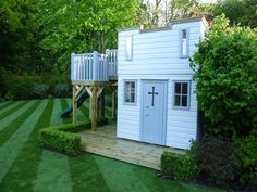 This Playhouse Castle is very neat and tidy! Matches the lawn perfectly!!!