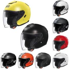 Shoei-J-Cruise-Open-Face-Jet-Motorcycle-Motorbike-Helmet-All-Colours-amp-Sizes