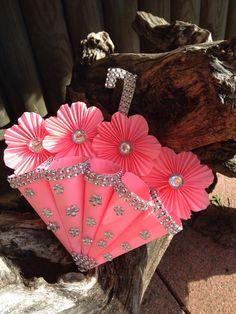 Regenschirmglückwunschkarte aus Papier mit viel Plingpling! Paper, Handmade Birthday Cards, Craft Work