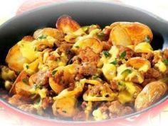 Viande hachée et pommes de terre à la poêle