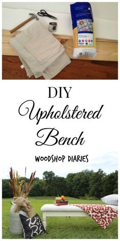 Get some cush(ion) under your tush in 5 easy steps! This DIY upholstered bench…