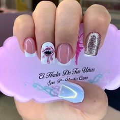 French Manicure Acrylic Nails, Best Acrylic Nails, Cute Nails, Pretty Nails, Short Nail Designs, Nail Spa, Short Nails, Make Up, Angel