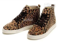 Buy red cloth icehut yy New Men's Cheetah Print Sneaker High Cut Shoes with shoelace + original box, on Aliexpress.com