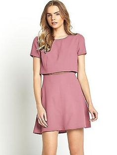 Love #label #2-in-1 mesh waist #dress in blush plus size 18,  View more on the LINK: 	http://www.zeppy.io/product/gb/2/371459955228/