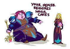 World of Warcraft: hungry healers! Warcraft Comics, Warcraft Funny, Warcraft Art, World Of Warcraft Movie, Wow World, Funny Games, Fantasy World, Funny Pictures, Funny Pics