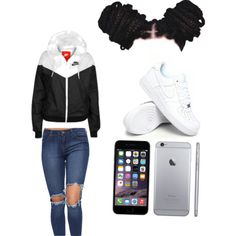 Untitled #3 by mecatilyn-arkeona-denson on Polyvore featuring polyvore, fashion, style and NIKE