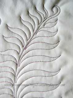 Amy's Free Motion Quilting Adventures: Free Motion Monday: Feathers, Week – Famous Last Words Quilting Beads Patterns Quilting Stitch Patterns, Machine Quilting Patterns, Quilting Templates, Quilt Stitching, Quilt Patterns Free, Quilting Projects, Quilting Ideas, Quilt Inspiration, Walking Foot Quilting