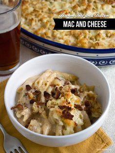 Brown Ale, Cheddar, and Bacon Mac