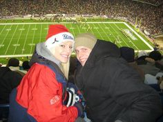 our first Patriots game <3