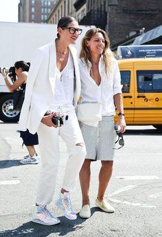 Crew's Jenna Lyons Was the Rare Successful Designer-Street Style Star Photos Best Mens Fashion, Star Fashion, Womens Fashion, Korean Fashion, Casual Chic, Fashion Mode, Fashion Trends, Fashion Tips, Jenna Lyons