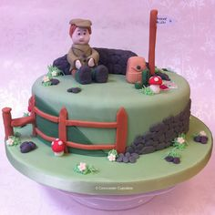 Retirement Cake - Country Walker | Flickr - Photo Sharing! Country Walkers, Mountain Cake, Nature Cake, Cake For Husband, Vanilla Bean Cakes, Dad Birthday Cakes, Dad Cake, Retirement Cakes, Just Cakes