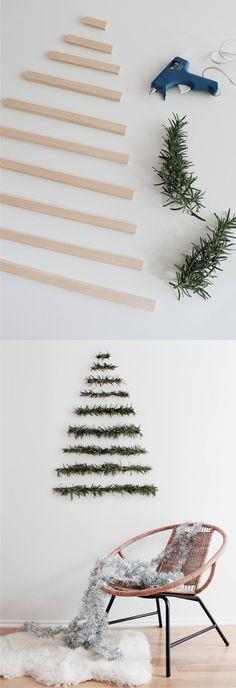 Un árbol de navidad fácil y moderno