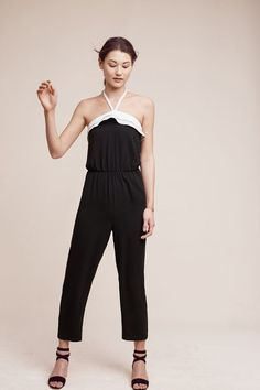 Simone Ruffled Halter Jumpsuit from Anthropologie is perfect for a weekend out!
