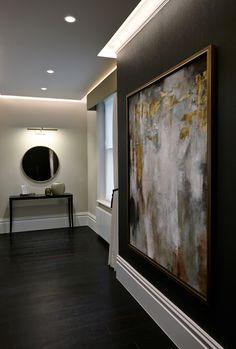 Hallway with artwork #interiordesign
