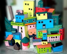 Cardboard houses from unsoloboton- great as a nightlight!