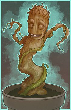 This dumb tree is my friend. by MissBeanpants on Etsy
