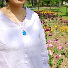 #silver #porcelain #summerblue #necklace #helenarohner