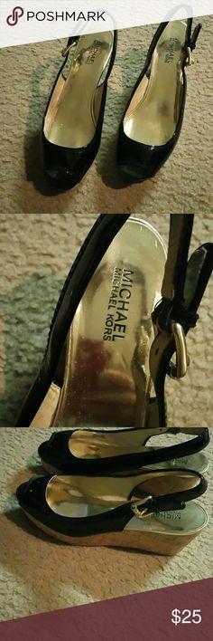 Michael Kors wedge Beautiful I purchased on Posh.... Michael Kors Shoes Wedges